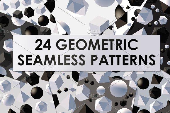 24 vector geometric patterns