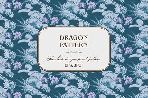 Seamless  pattern of Dragon