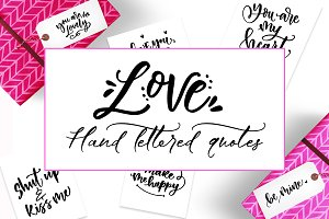 30 valentines hand lettered quotes