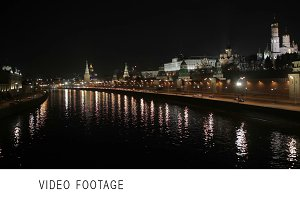 Quay near the Moscow Kremlin