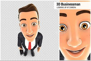 3D Businessman Standing
