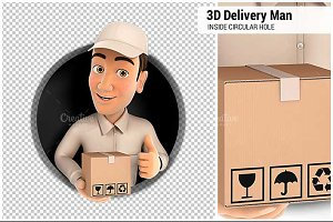 3D Delivery Man with Package