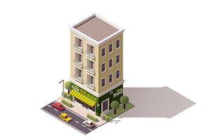 Vector isometric mini market