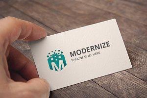Letter M (Modernize) Logo