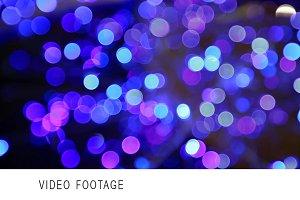 Blue bokeh motion abstract backgroun