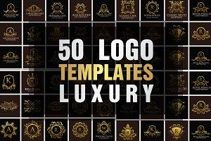 Luxury Logo Templates, 50 Set