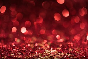 background with red shiny confetti