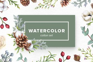 Watercolor Cotton Set