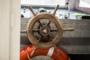 Small boat steering wheel