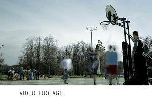 Streetball game timelapse 1