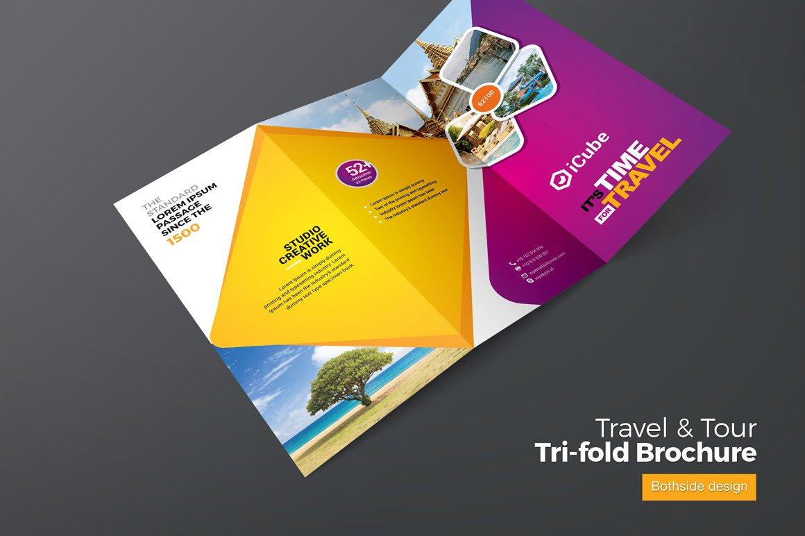 travel tourism trifold brochure brochure templates creative market