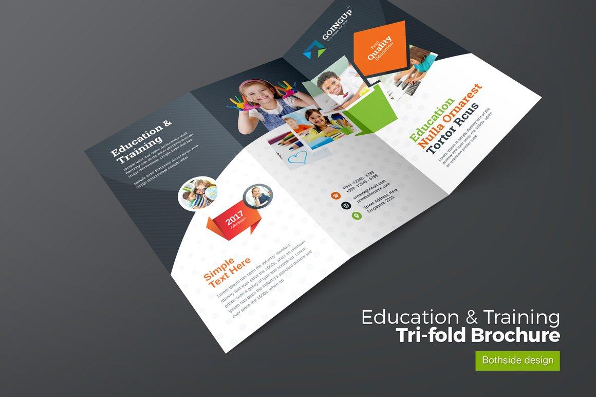 education trifold brochure brochure templates creative market