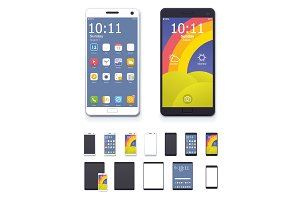 Vector generic smartphones and tablet
