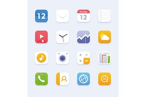 Vector user interface icon set