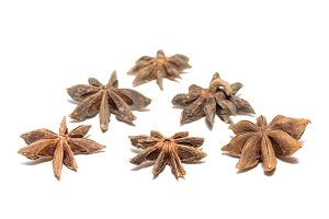 Anise on white background