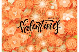 Happy Valentines Day. Flower colorful background.