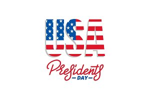 Presidents Day. Typographic lettering logo for USA Presidents Day celebration