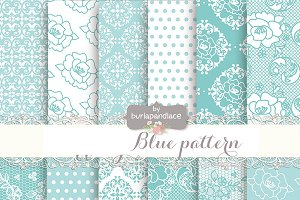 Blue digital paper
