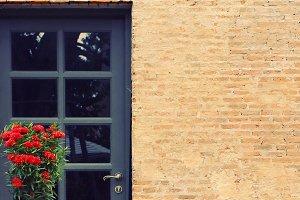 Front door of vintage house