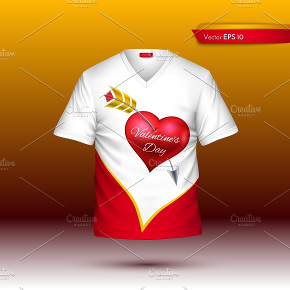 Vector realistic t-shirt heart
