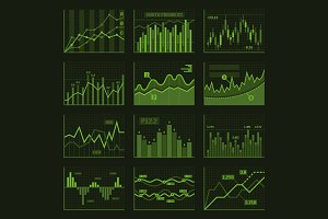 Business Charts and Graphics Set
