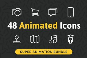 48 Animated Icons