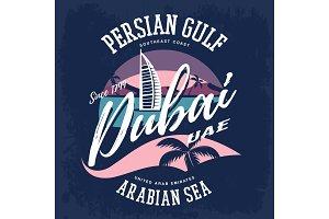 Hotel Burj Al Arab as Dubai or UAE sign