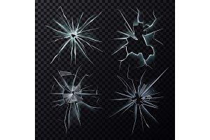 Smashed or broke window, screen or glass cracks