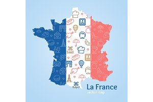 France Concept and Map.