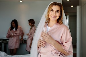 Bride celebrating her bachelorette p