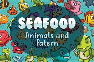 Seafood Animals and patterns