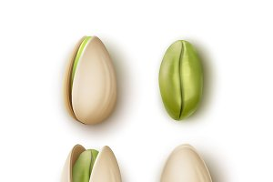 Set of pistachio nuts