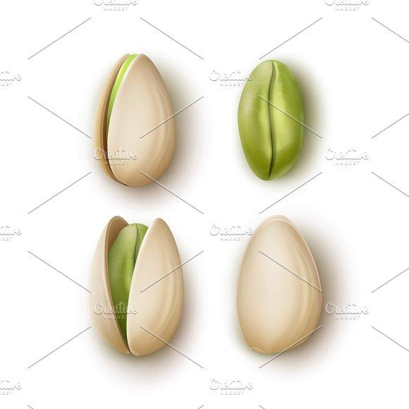 Set of pistachio nuts