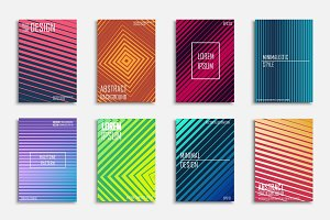 Bright colorful abstract covers