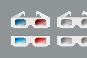 Set of 3d glasses