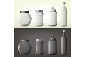 Jar or glass bottles for spice or seasoning