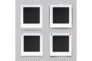 Retro photography square empty frames