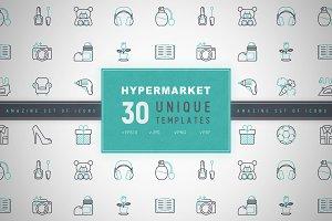 Hypermarket Icons Set | Concept
