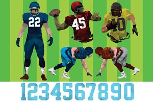 American Football Players Template