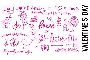 Pink Valentine's Day Doodles