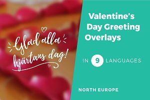 9 Valentine's Day Photo Overlays v2