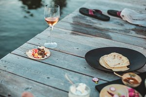 Summer Eating, Tacos on the dock