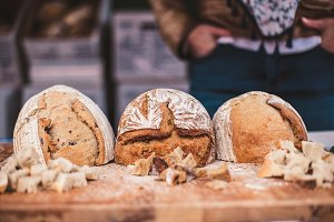 bread at the farmers' market