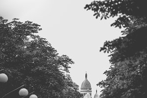 Sacre Coeur between trees