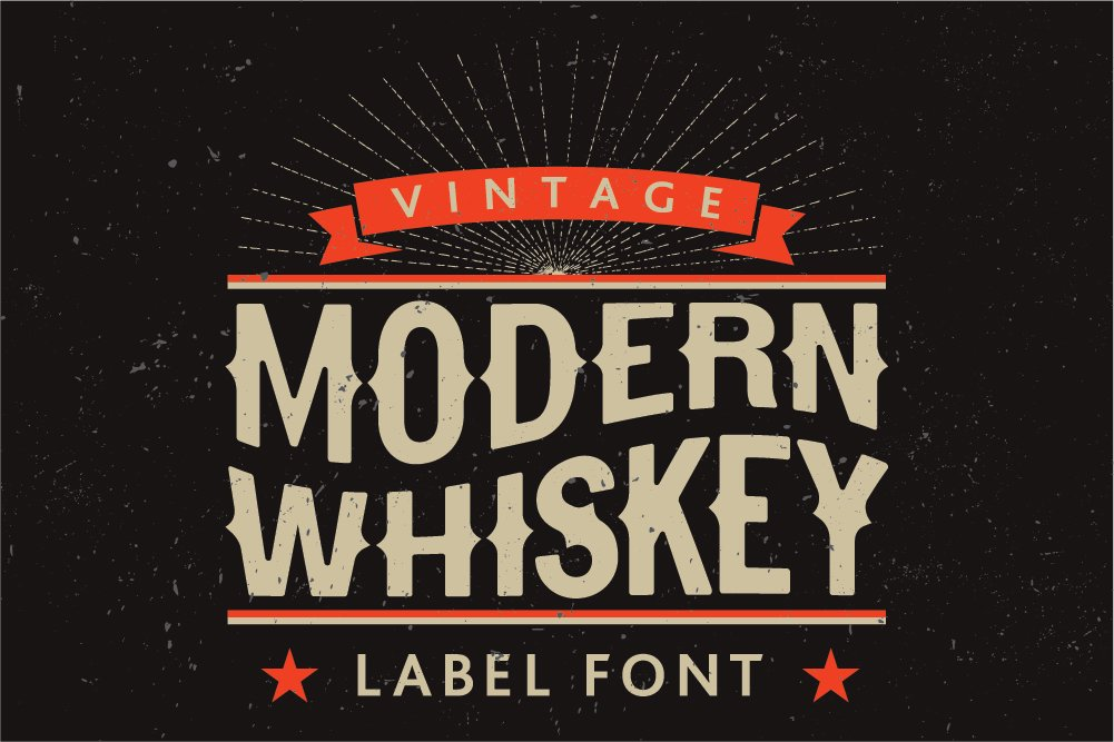 modern whiskey label font display fonts creative market