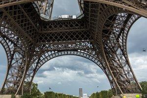 Bottom of Eiffel Tower in Paris
