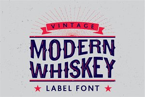 Modern Whiskey label font