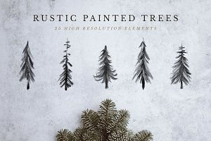 Rustic Painted Trees