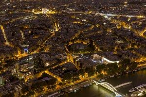 Seine river and Arch of Triumph