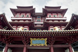 Beautiful view of Tooth relic temple